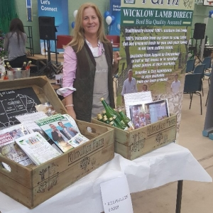 Demonstrating our Wicklow food products at a fair in Wicklow