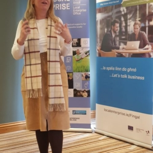 Guest speaker at  Ballinteer Enterprise week
