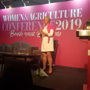Women in Ag 2019 speaking on my farm story and shared mindset to succeed